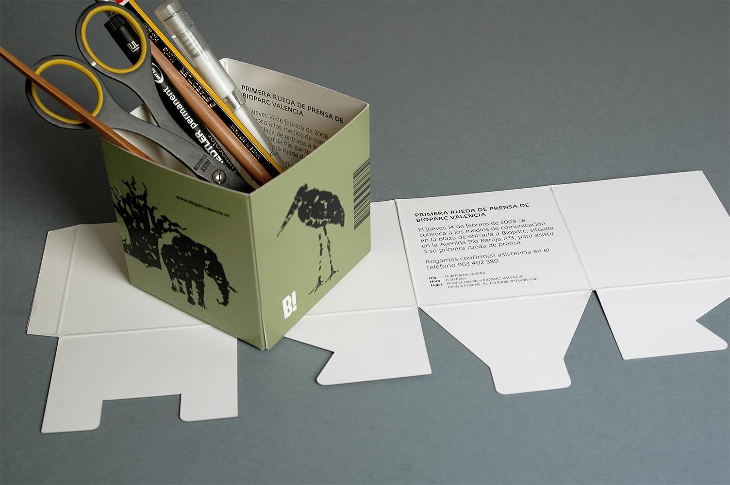 Diseño invitación reutilizable para rueda de prensa Presentación Bioparc