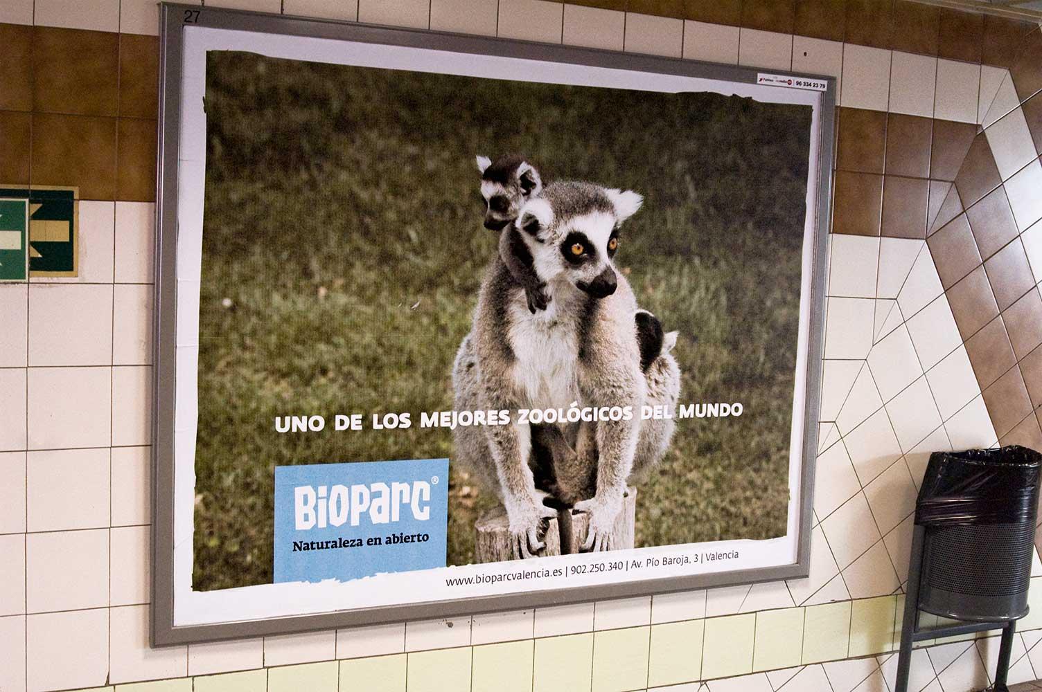 Bioparc valla publicitaria en metro de Valencia