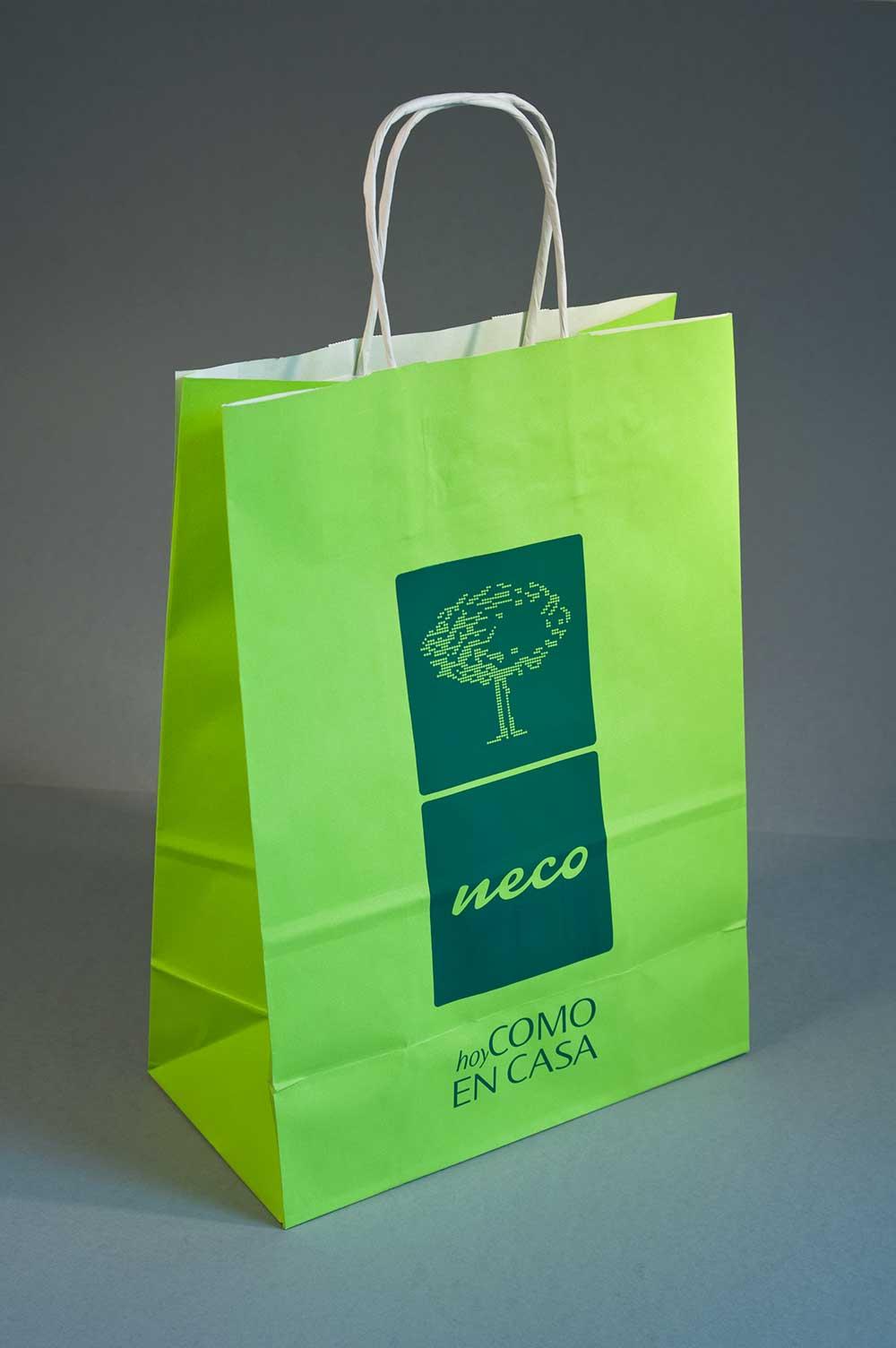 Diseño bolsa comida para llevar Neco
