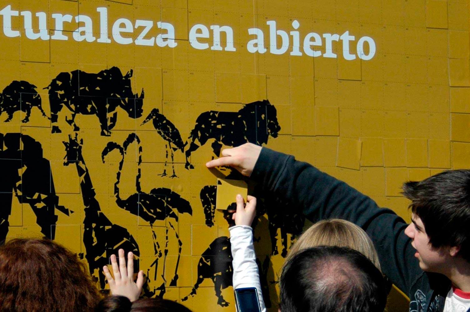 Muralde imán en inauguración anual Bioparc Valencia