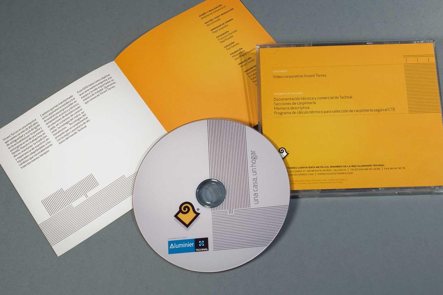 Contraportada e interior DVD vídeo corporativo