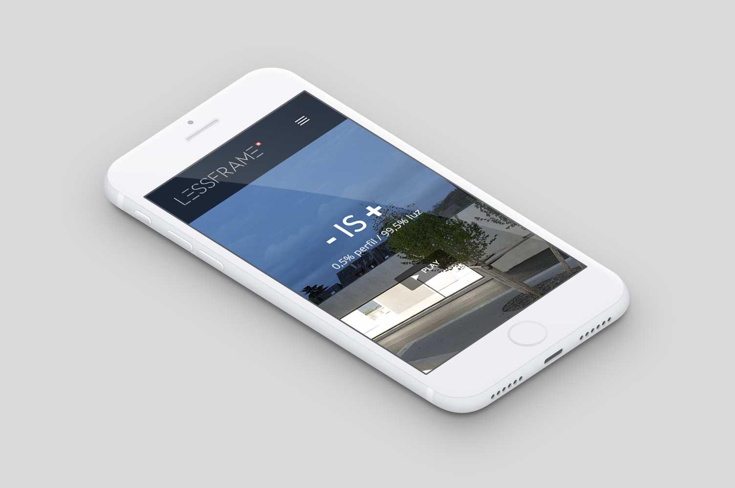 Diseño web smartphone landing page Lessframe