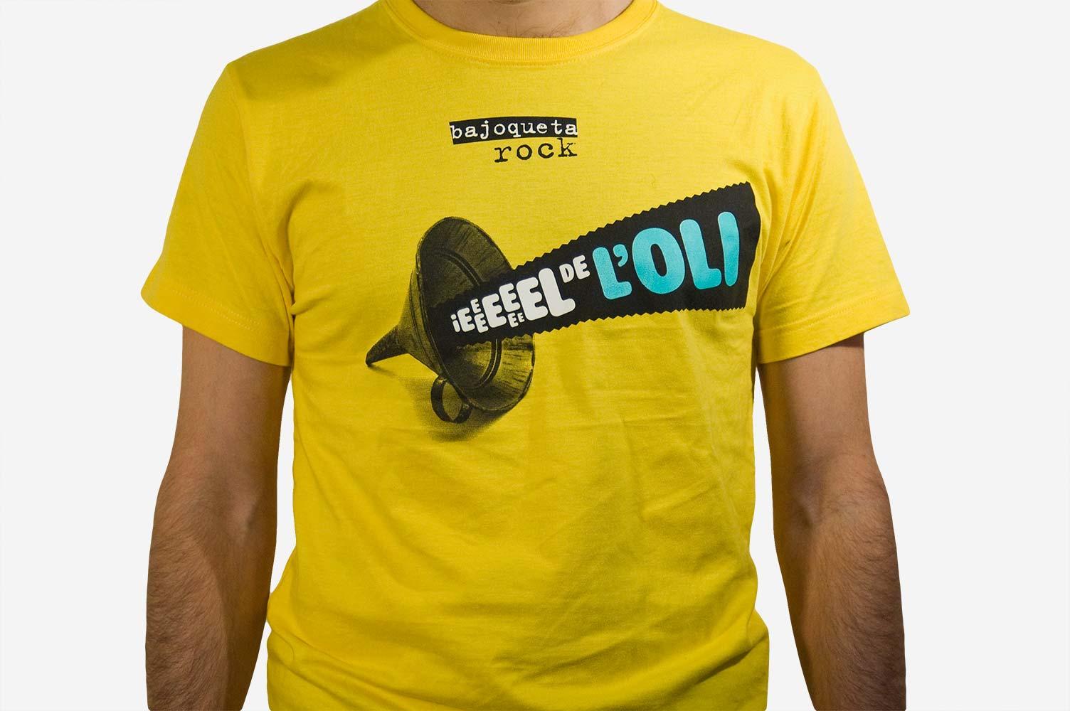 "Diseño camiseta ""El del oli"" Bajoqueta rock"