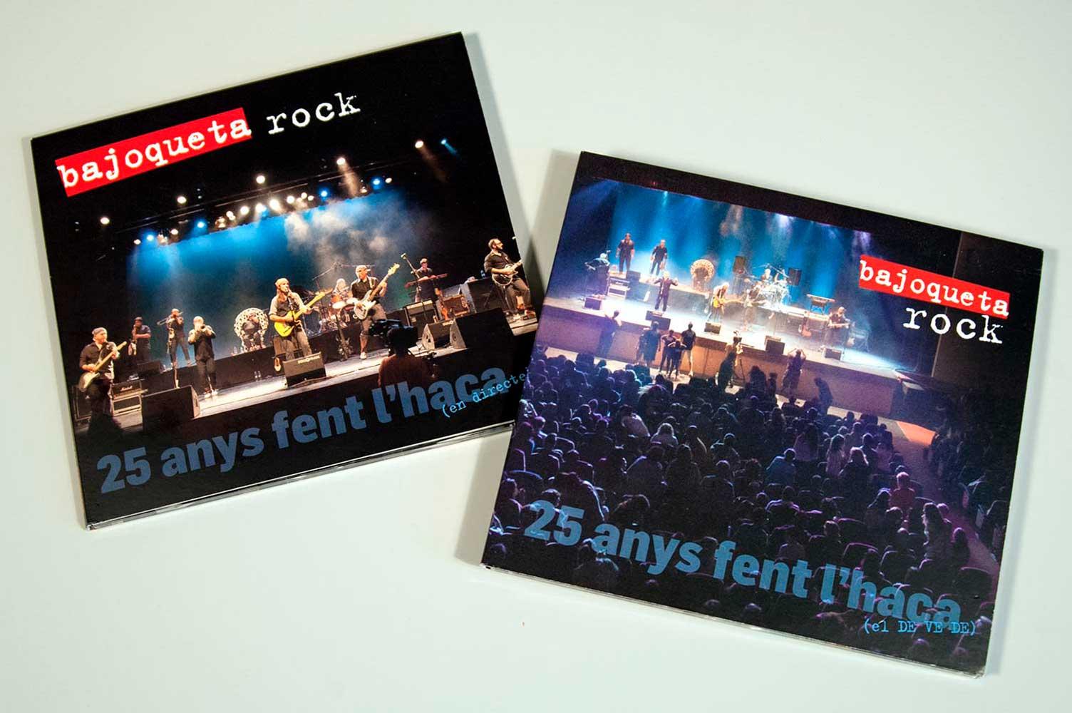 Diseño CD y DVD Bajoqueta rock 25 aniversari