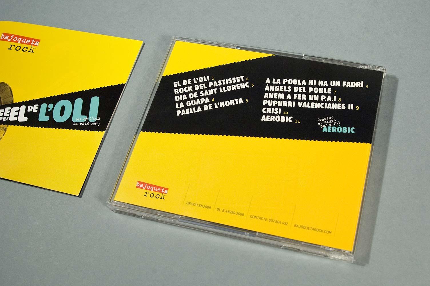 "Diseño CD Bajoqueta rock ""el del oli"""