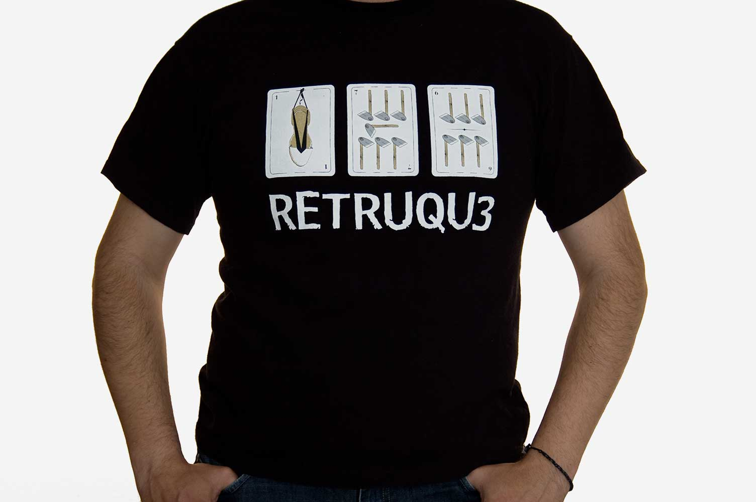Camiseta Bajoqueta rock retruqu3
