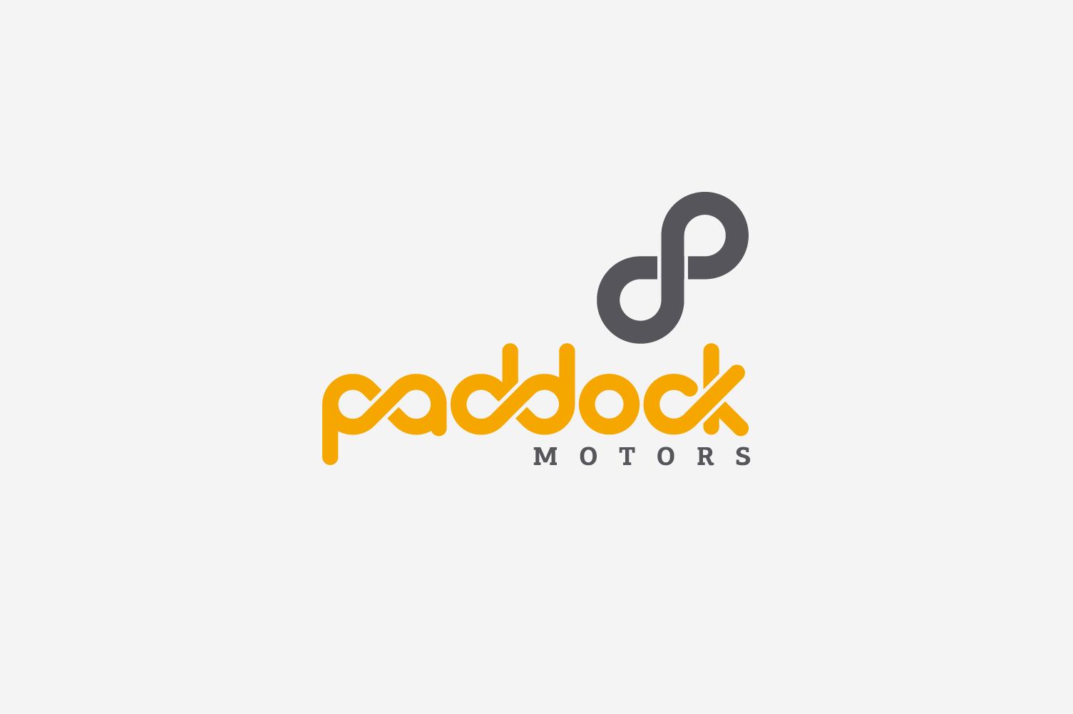 Diseño de logo paddock motors v1