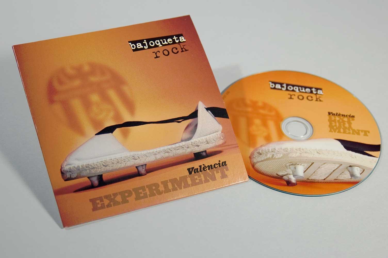 Diseño de CD para Bajoqueta rock Valencia experiment