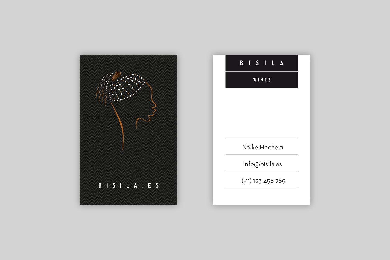 Tarjetas de presentación Bisila Wines