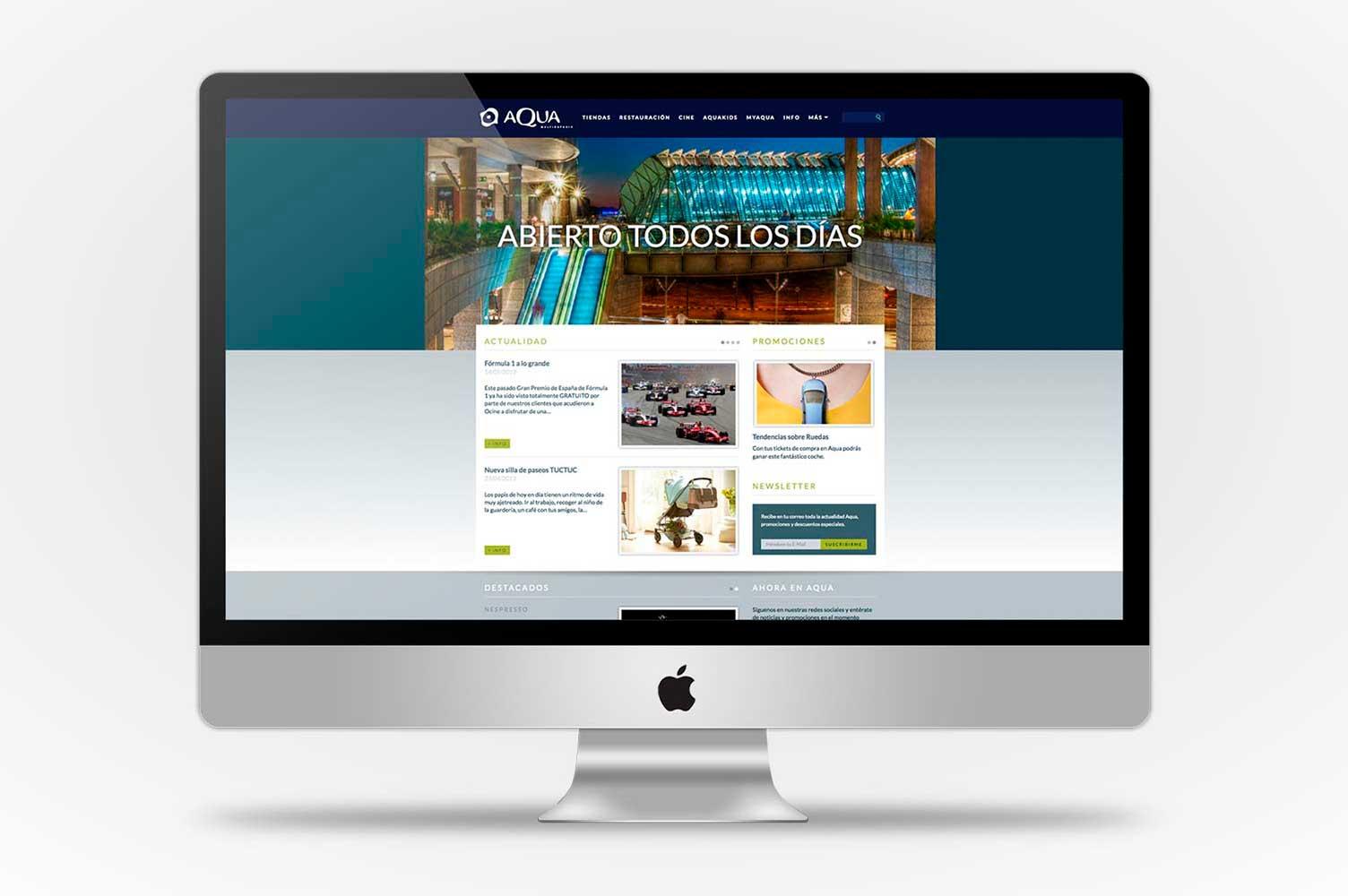 Home page web CC Aqua Multiespacio