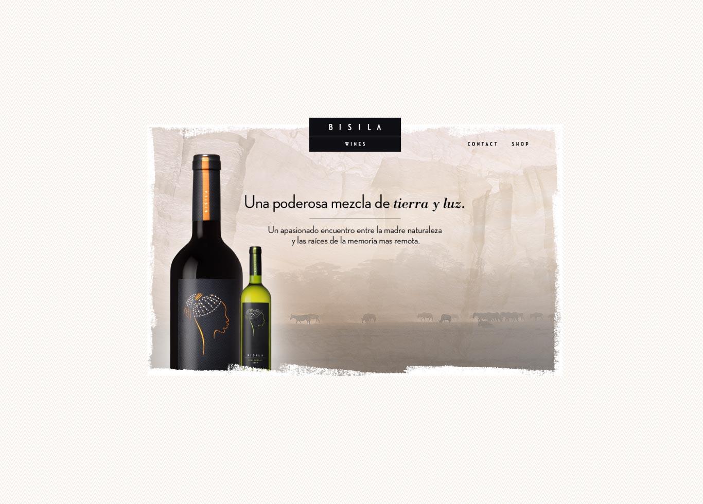 Diseno web Bisila Wines home