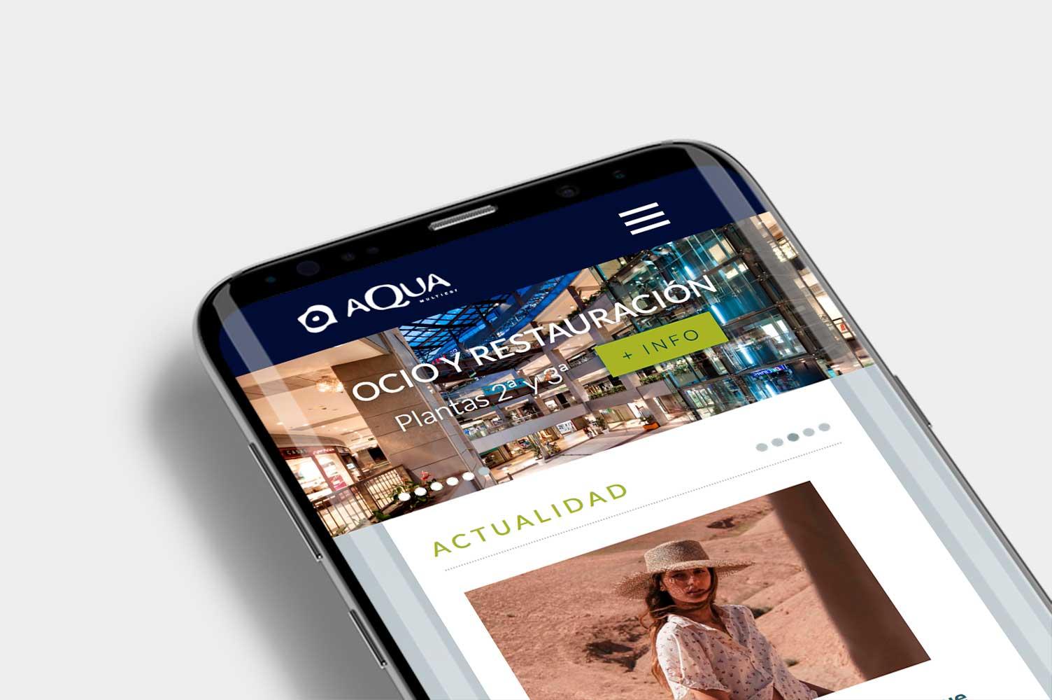 Diseño web a medida en Valencia Aqua multiespacio