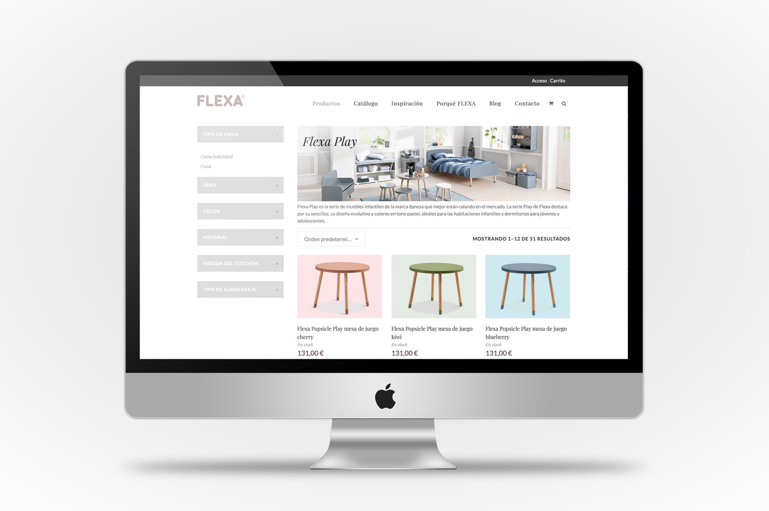 Flexa online shop desktop