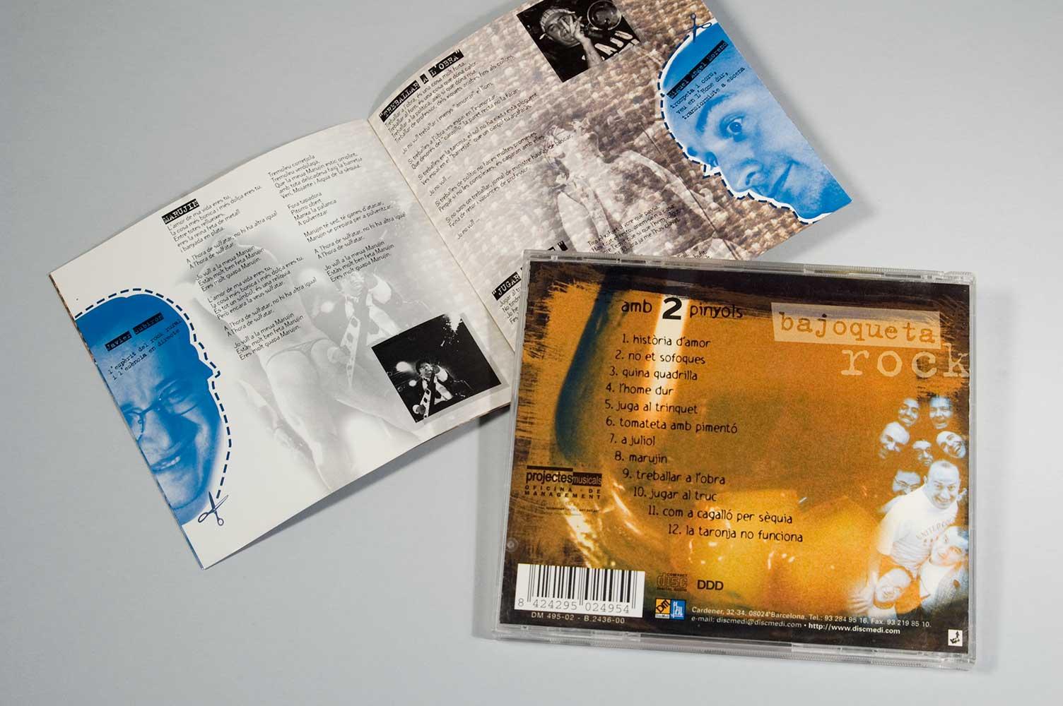 """Diseño CD Bajoqueta rock """"amb 2 pinyols"""""""