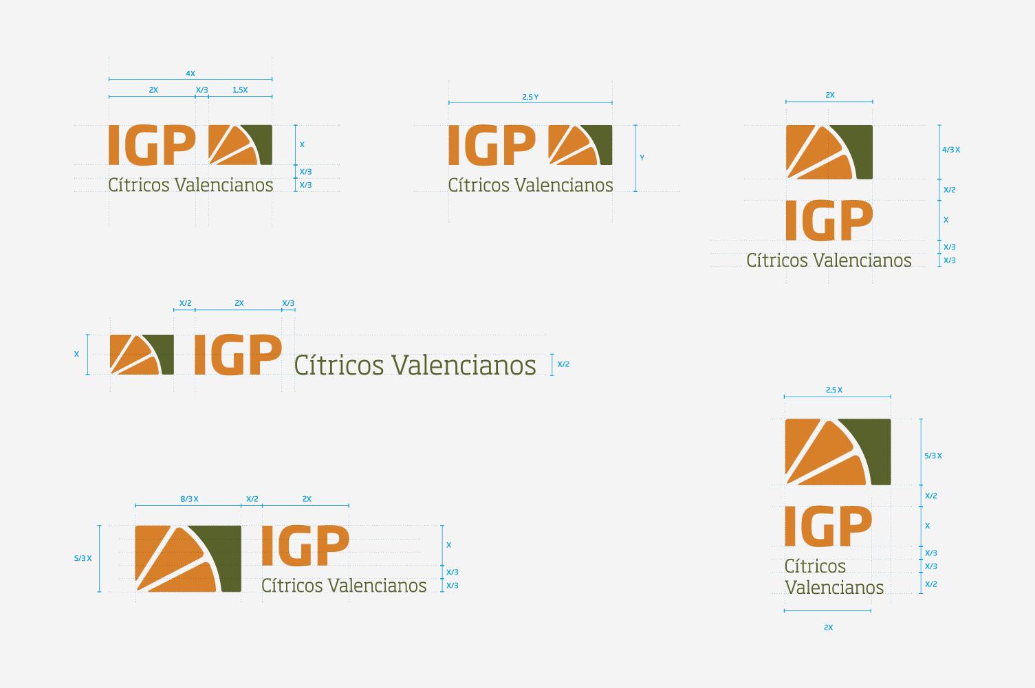 Versiones de marca corporativa IGP v1
