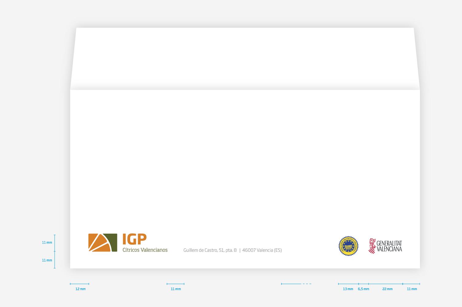 Manual de identidad corporativa IGP – Sobres