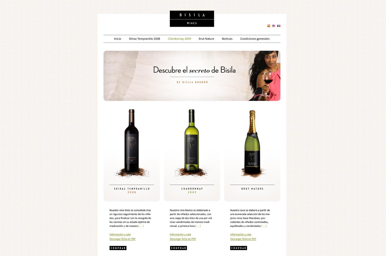Tienda online Bisila Wines catálogo de vinos