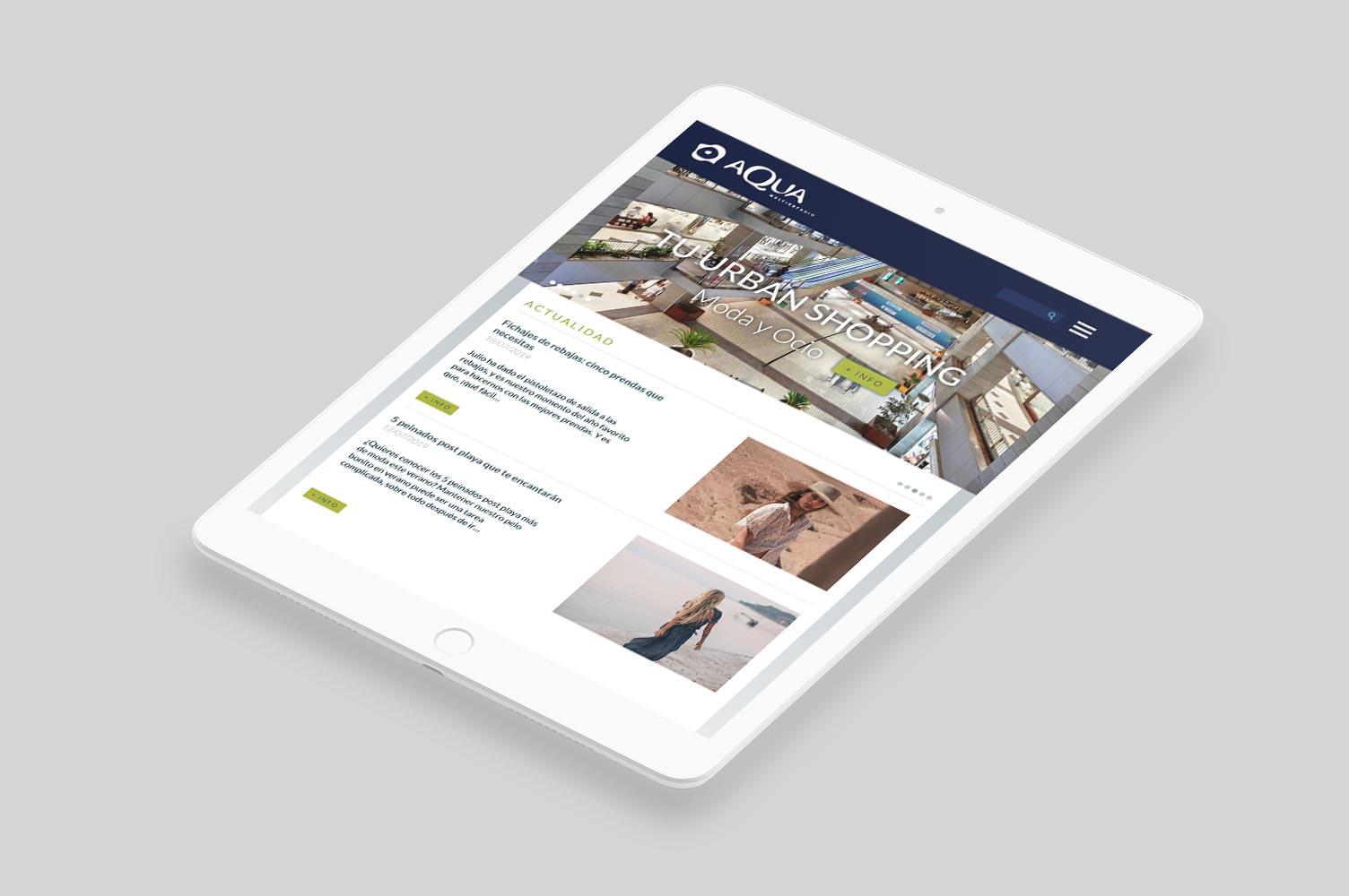 Página web por encargo Aqua iPad