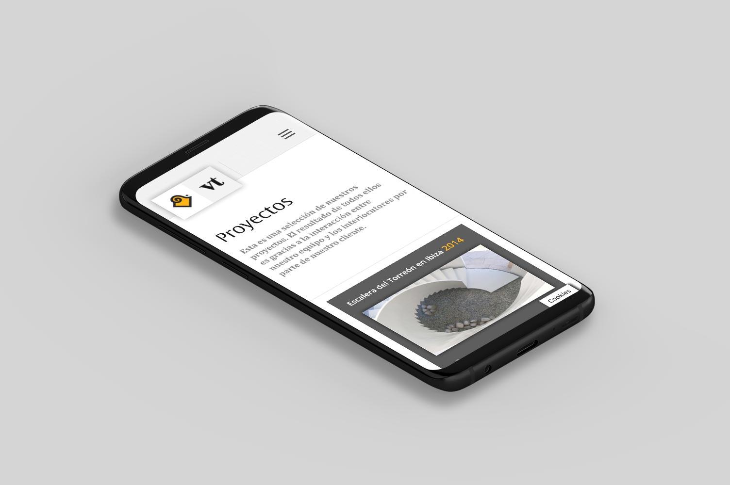 Diseño responsive para web Vicent Torres versión mobile