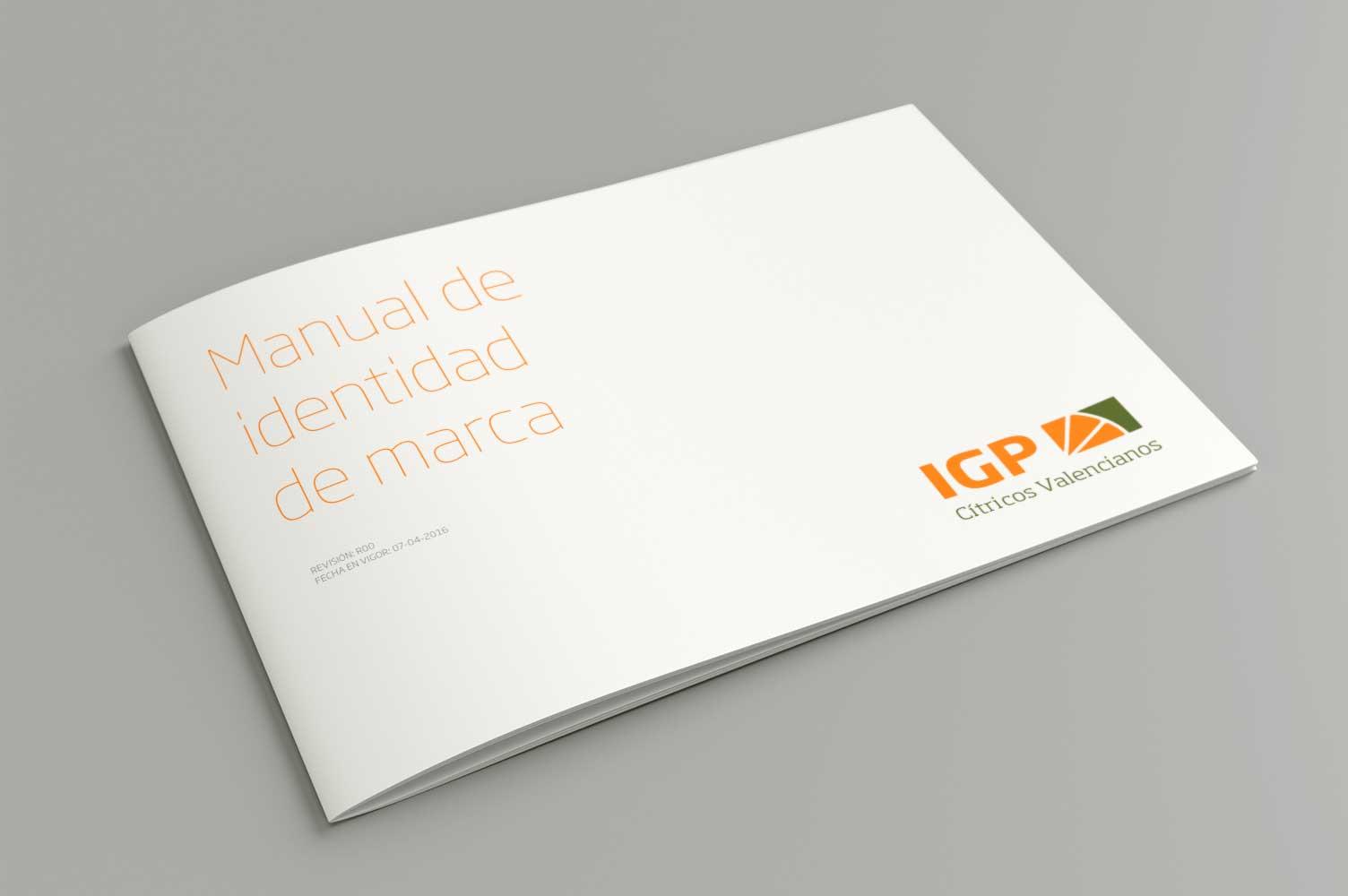 Portada manual de identidad corporativa IGP