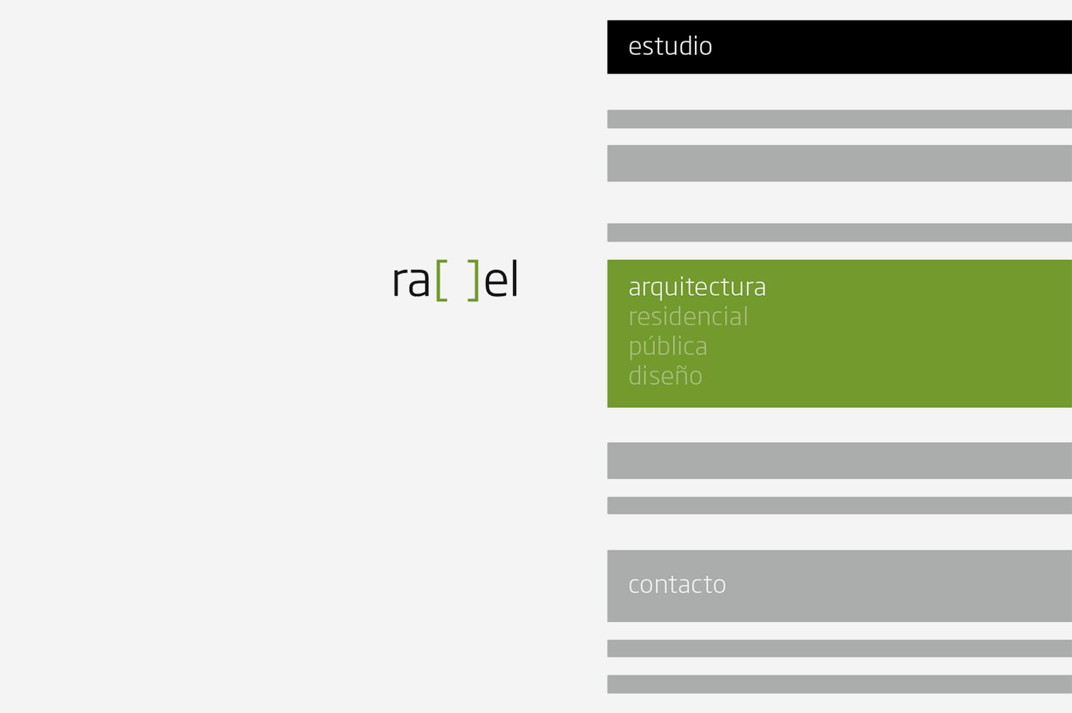 Imagen de marca Rael Arquitectura