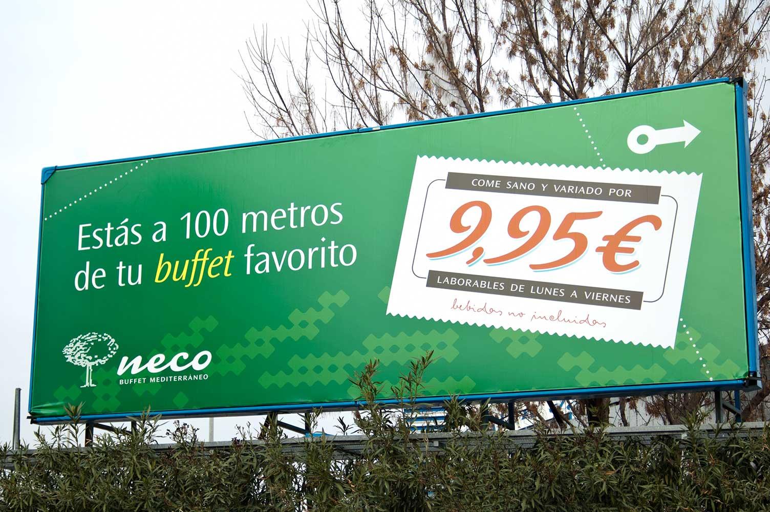 Publicidad exterior valla plubicitaria Neco