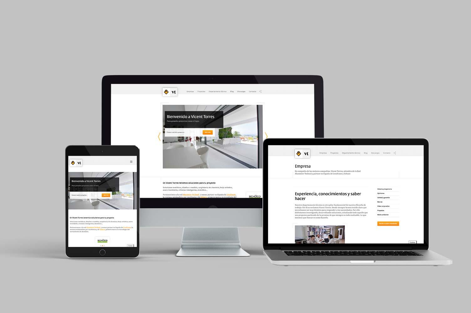 Diseño responsive para web Vicent Torres