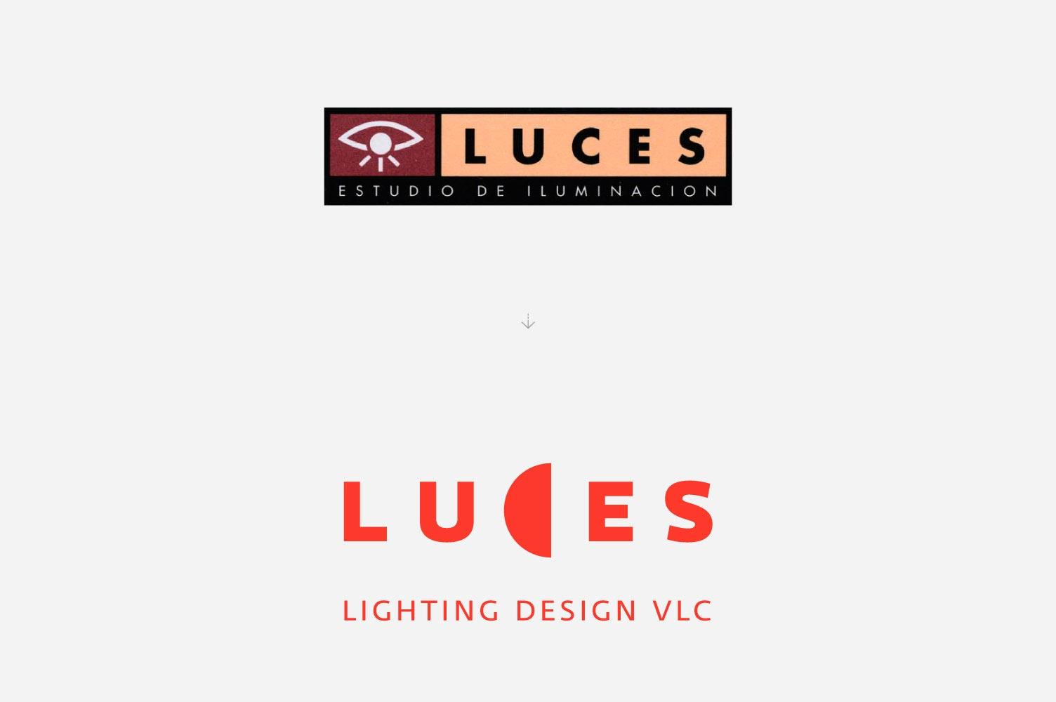 Rediseño de Logo en Valencia: Luces lighting design VLC