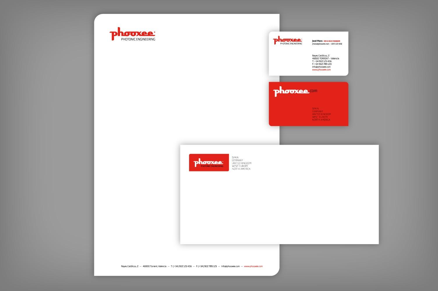 Diseño integral papelería corporativa Phooxee