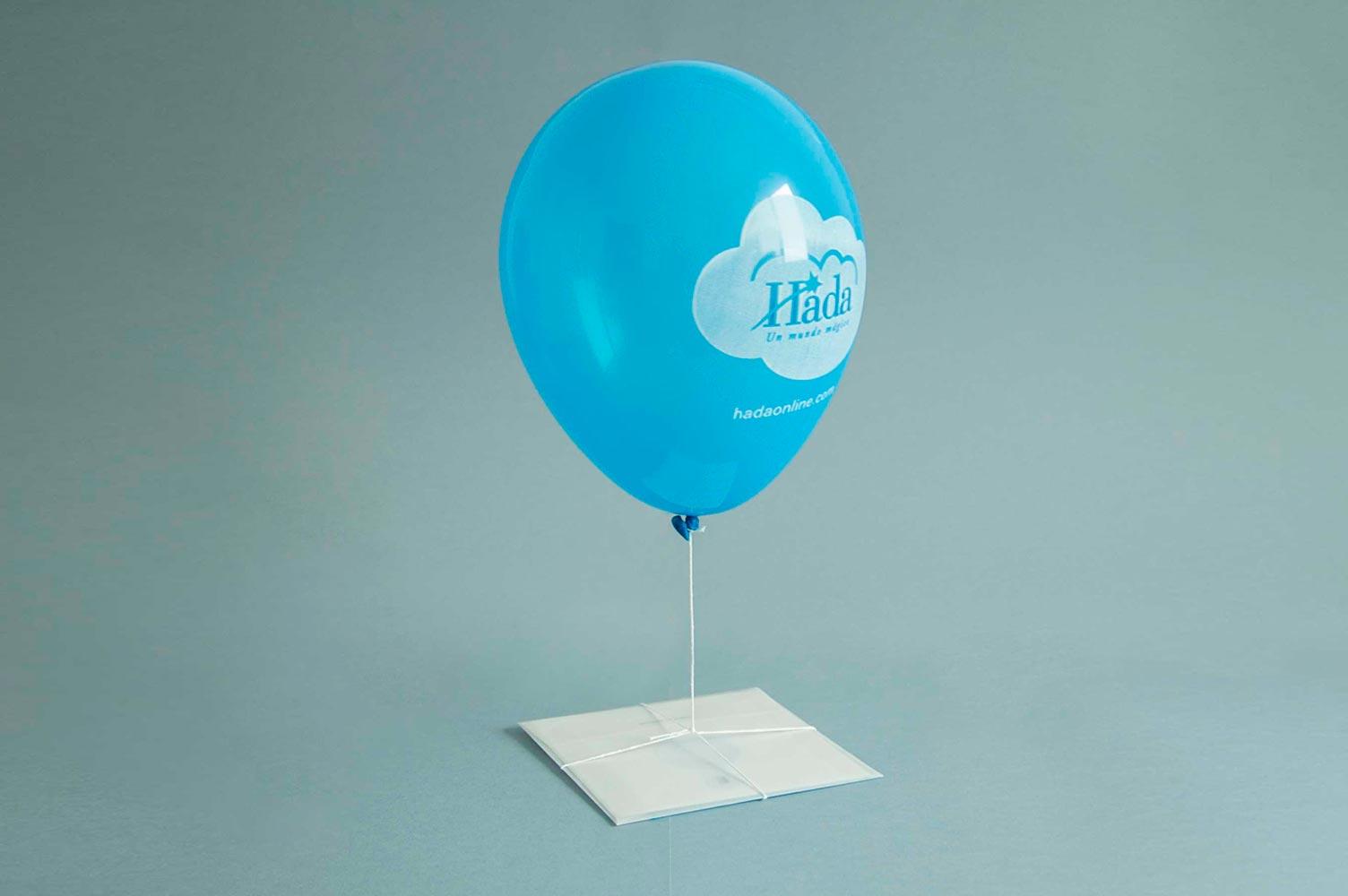 Propuesta para campaña de publicidad con folleto y globo de helio
