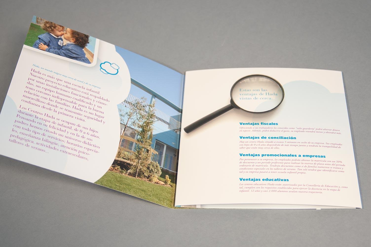 Interior folletop campaña de publicidad Hada