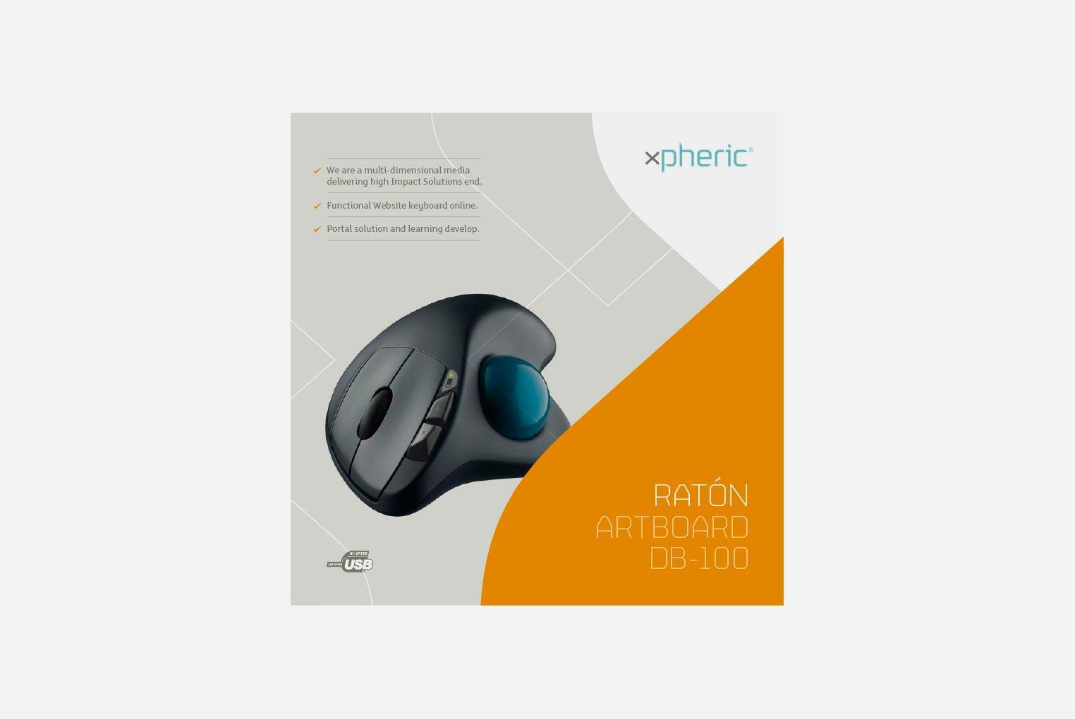 Diseño de packaging ratón xpheric anverso