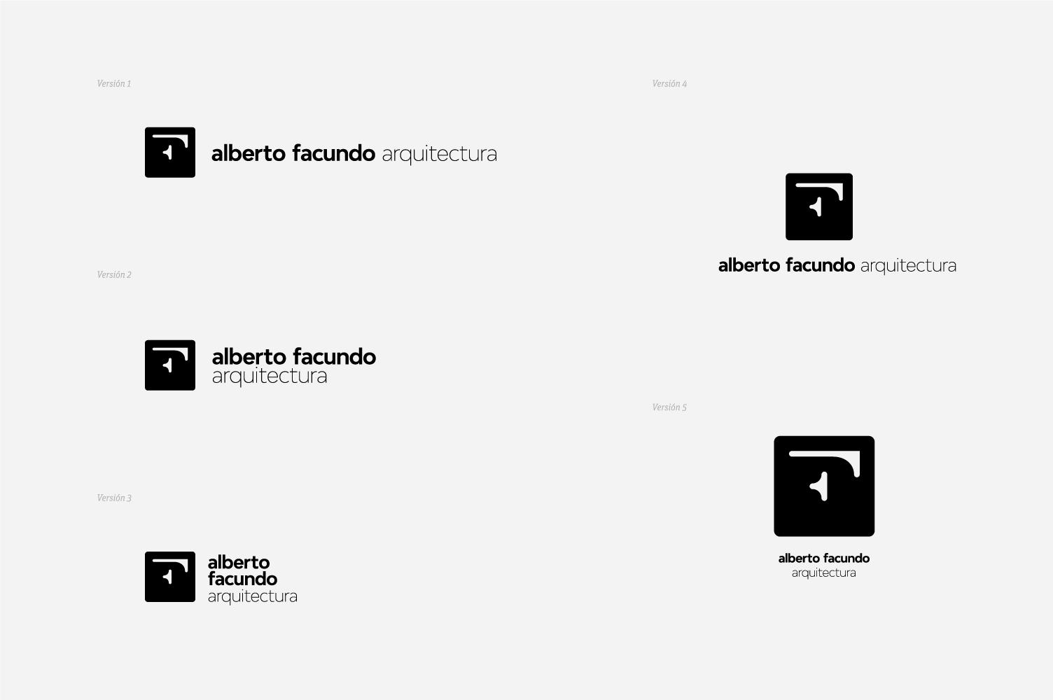 Versiones de marca Alberto Facundo arquitectos