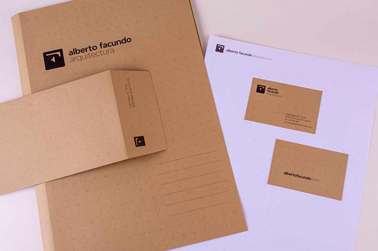 Identidad corporativa y diseño de marca Alberto Facundo Arquitectos