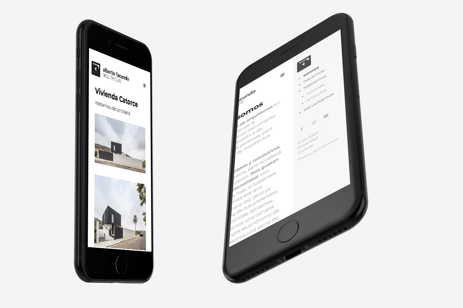 Diseño web smartphone Alberto Facundo arquitectura