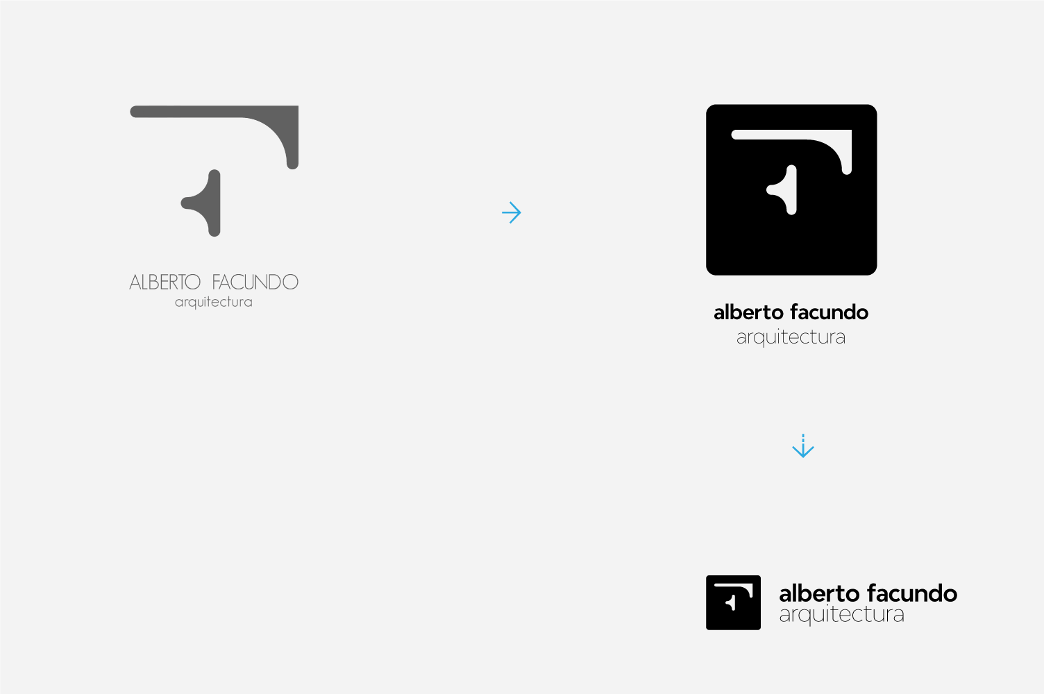Rediseño de marca Alberto Facundo arquitectura