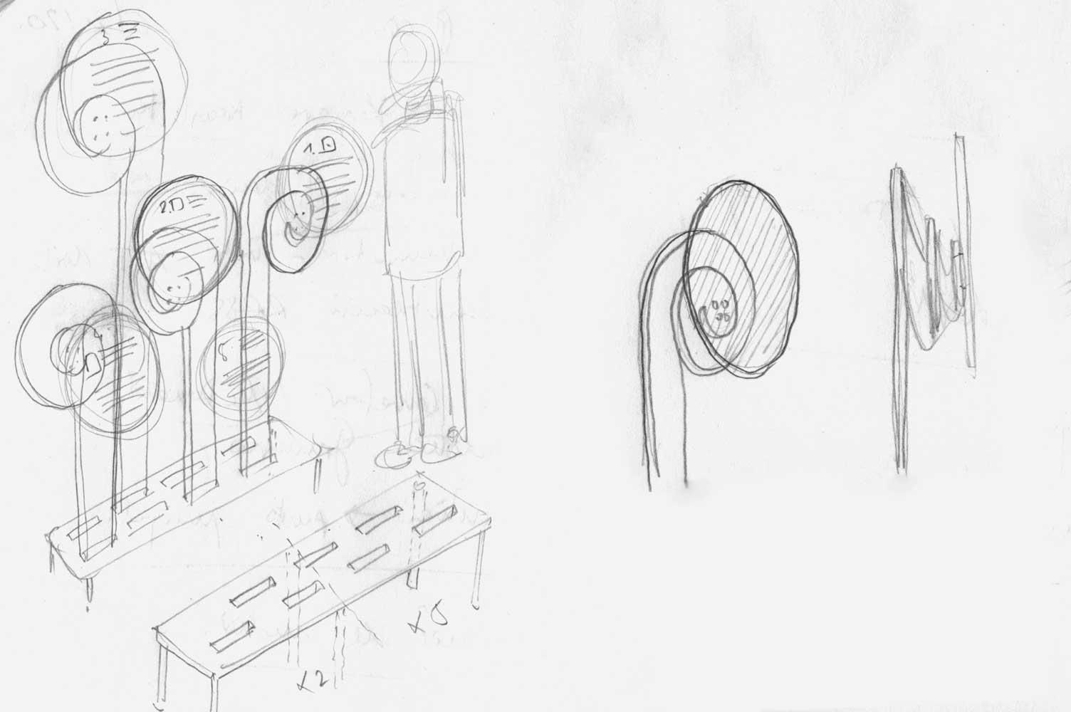 Boceto diseño de señalética