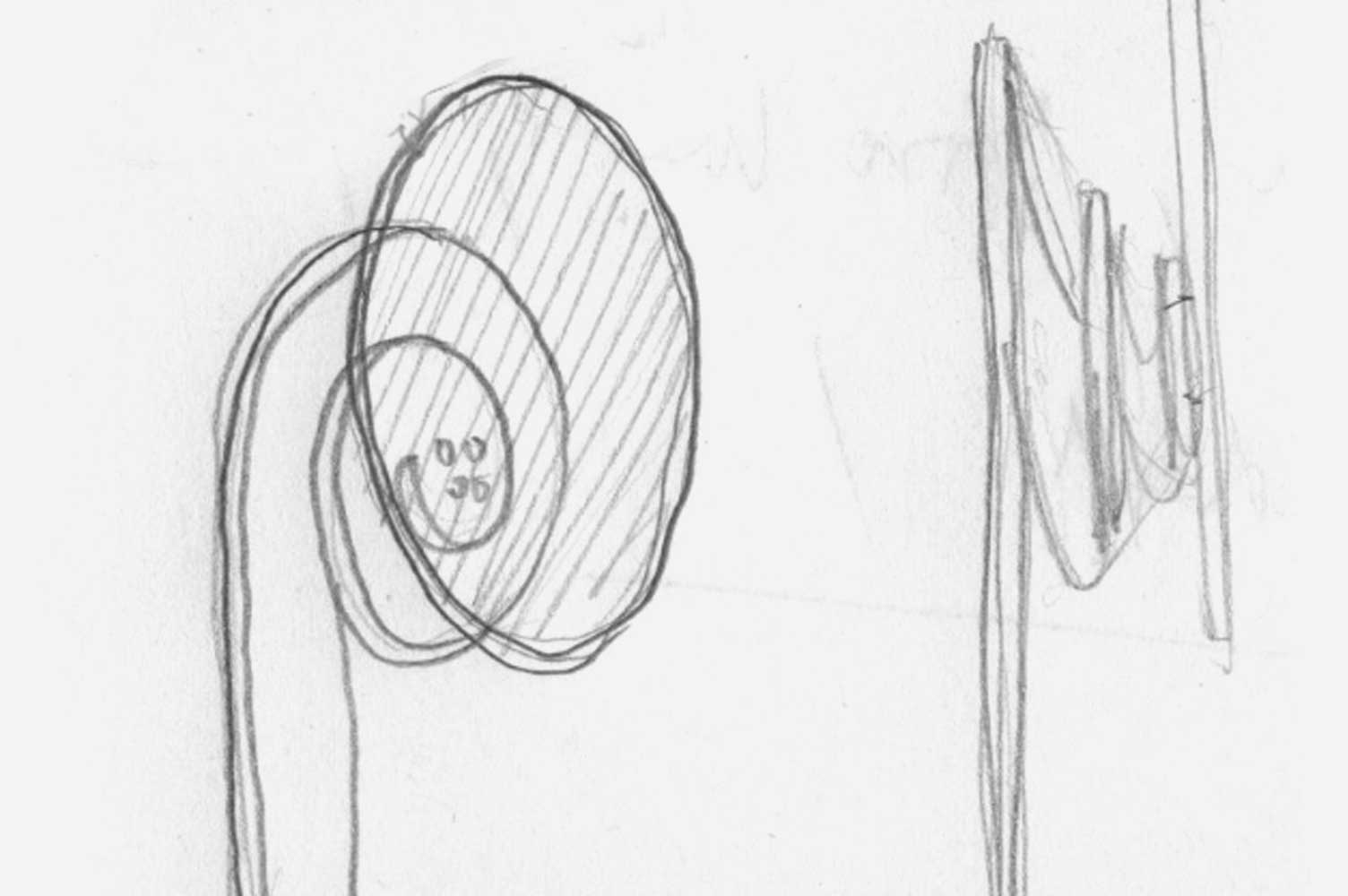 Boceto diseño de señalización espacios biosaludables