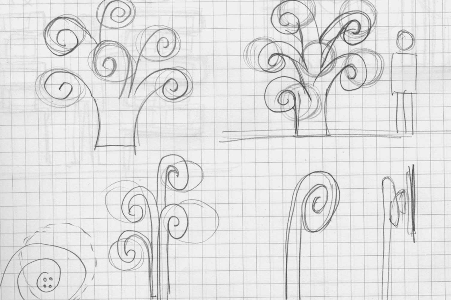 Bocetos de ideas para señalizacion Bio Saludables Riba-roja